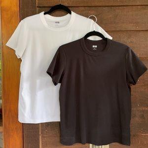 Uniqlo Basics Bundle- black & white tees